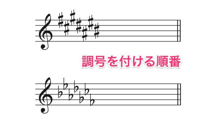 調号(♯や♭)を付ける順番