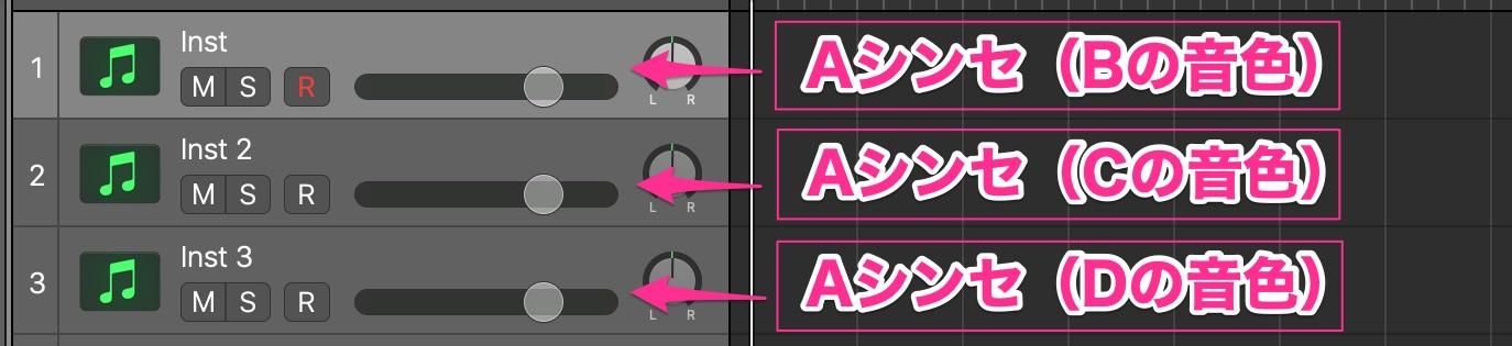 Logicで1つのソフトシンセの中に複数の音色を立ち上げる方法9