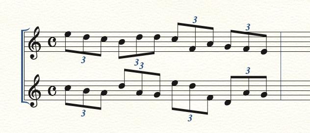 連符の数字の表示位置を変える方法1